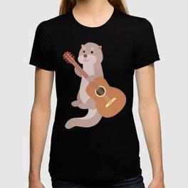 Otter Musician Guitar Guitarist T-shirt