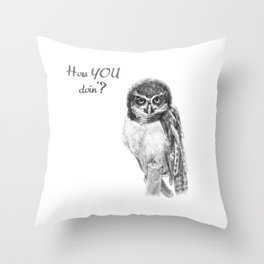 The Spectacled Owl Throw Pillow