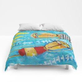 Swimming Is Hard Comforters