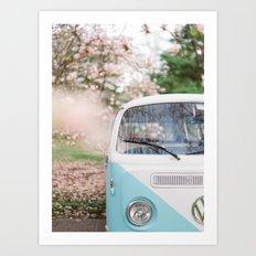 Vintage Volkswagen Van Art Print