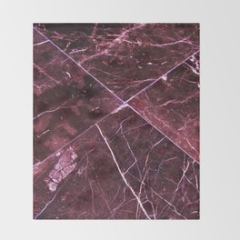 Amethyst Granite Tiles Throw Blanket