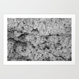 Old Brittle Wall BW Art Print