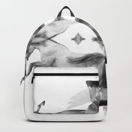 The white wedding of horses and doves Backpack