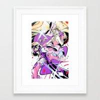 kill la kill Framed Art Prints featuring Kill la Kill Nui by nicky