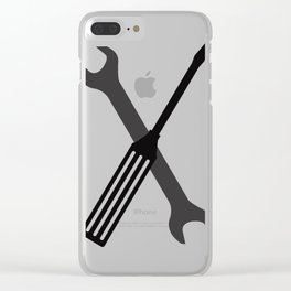 wrench and screwdriver Clear iPhone Case