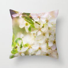Spring Crowd Throw Pillow