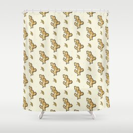 ginger root power Shower Curtain