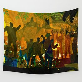 From Slavery thru Reconstruction photograph of the 135th St. WPA Public Mural NY Public Library  Wall Tapestry