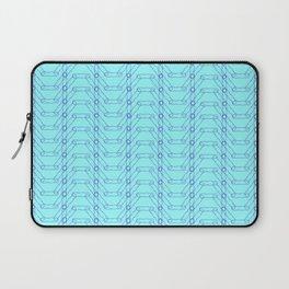 Blue Spiro Pattern Laptop Sleeve