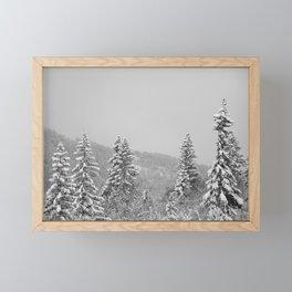 Snow Framed Mini Art Print
