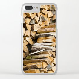 firewood   close up Clear iPhone Case