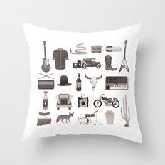 The Desert Rocker Kit Throw Pillow