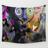 salvador dali Wall Tapestries featuring My Salvador by Anastasia Klymenko