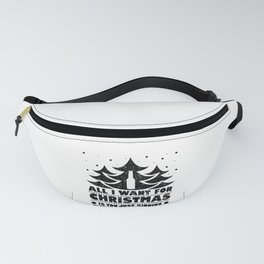 Christmas Wine Lover All I Want for Christmas is You... Kidding Give Me Wine Fanny Pack