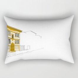 Yellow San Francisco Haus Rectangular Pillow