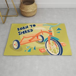 Born to Shred Vintage Tricycle Rug