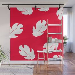Lilo Hawaiian Floral Leaves Wall Mural