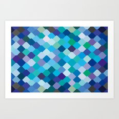 Blue Scales Art Print