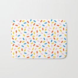 Livin' It - abstract pattern minimal modern primary colors pantone gender neutral retro throwback Bath Mat