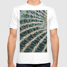 Cactus plant close up Mens Fitted Tee White MEDIUM