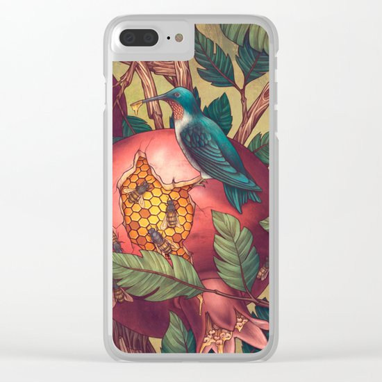 Ragged Wood Clear iPhone Case