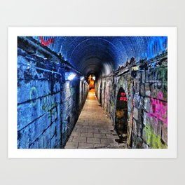 Grafitti Tunnel Art Print