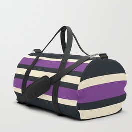 Classic Retro Stripes Asagi Duffle Bag