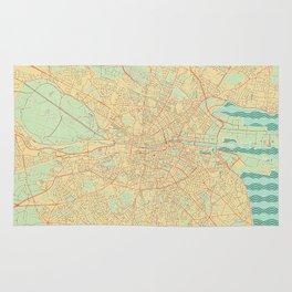 Dublin Map Retro Rug