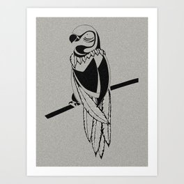 Semi-Abstract Bird Art Print
