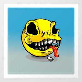 Packman Skull Art Print