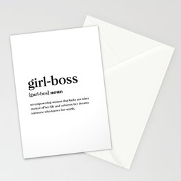Girl boss Definition Stationery Cards