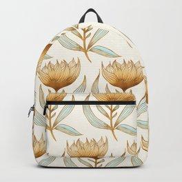 Bohemian Sunflower Pattern Backpack