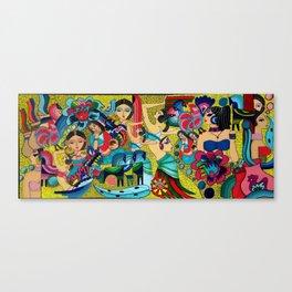 Multinational folklor Canvas Print