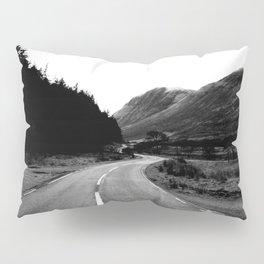 Road through the Glen - B/W Pillow Sham