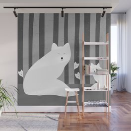 White foxes Wall Mural