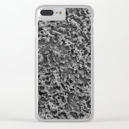 freezing sandy texture Clear iPhone Case