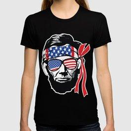 Abraham Lincoln American Flag Bandana T-shirt