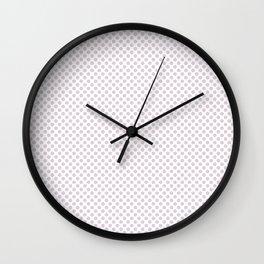 Orchid Ice Polka Dots Wall Clock