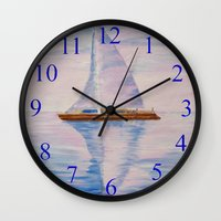 serenity Wall Clocks featuring Serenity by Ana Lillith Bar