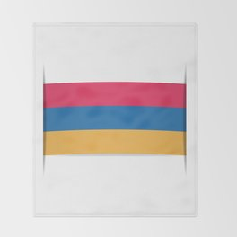 Flag of Armenia. The slit in the paper with shadows.  Throw Blanket