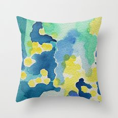 I dream in watercolor D Throw Pillow