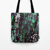 acid Tote Bags featuring Acid by MonsterBrown