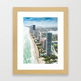miami skyline Framed Art Print