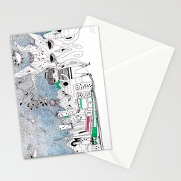 My neighborhood Stationery Cards