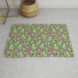 avocados in purple Rug