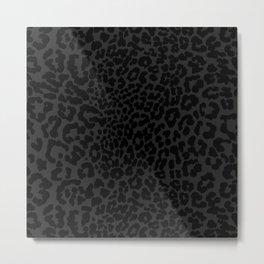 Goth Black Leopard Animal Print Metal Print