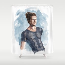 Fangs for the memories Shower Curtain