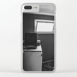 Washer, Yellow House, Arena, ND Clear iPhone Case