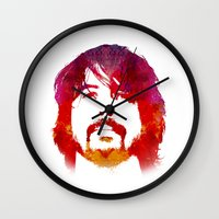 dave grohl Wall Clocks featuring D. Grohl by Fimbis