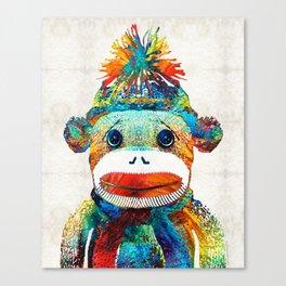 Sock Monkey Art - Your New Best Friend - By Sharon Cummings Canvas Print